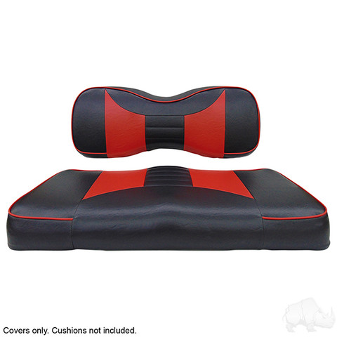 Yamaha G29/ DRIVE Seat Covers - Rally Front Seats - Black/Red