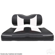 Yamaha G29/ DRIVE Seat Covers - Rally Front Seats - Black/White