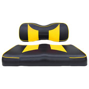 Yamaha G29/ DRIVE Seat Covers - Rally Front Seats - Black/Yellow