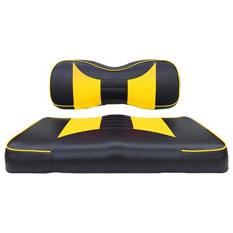 Yamaha G29/ DRIVE Seat Covers - Rally Front Seats - Black/Yellow