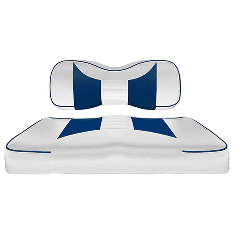 Yamaha G29/ DRIVE Seat Covers - Rally Front Seats - White/Blue