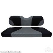 EZGO TXT / RXV Seat Covers - Sport Front Seats - Black Carbon Fiber/Gray Carbon Fiber