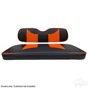 EZGO TXT / RXV Seat Covers - Rally Front Seats - Black/Orange