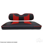 EZGO TXT / RXV Seat Covers - Rally Front Seats - Black/Red