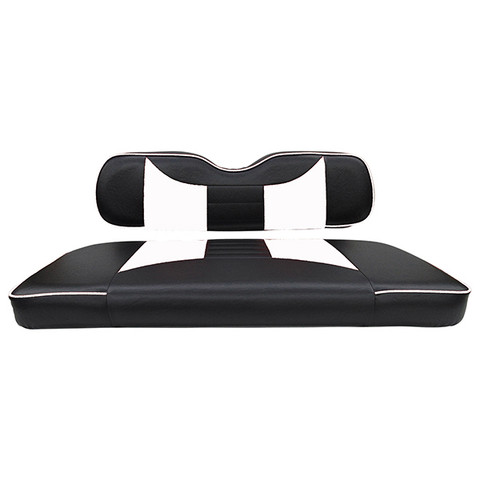 EZGO TXT / RXV Seat Covers - Rally Front Seats - Black/White
