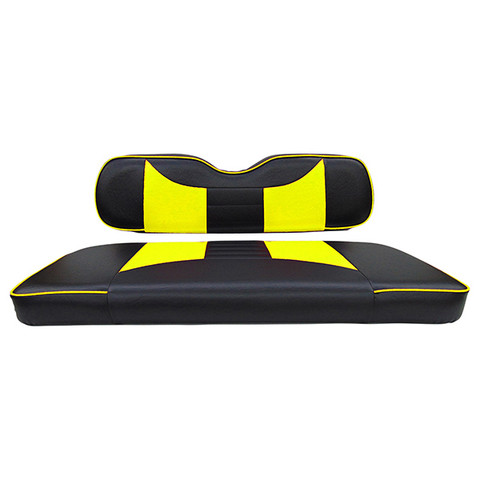 EZGO TXT / RXV Seat Covers - Rally Front Seats - Black/Yellow
