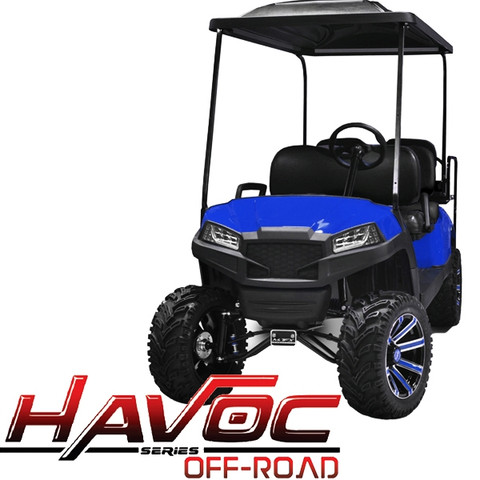 Yamaha Drive/G29 MadJax HAVOC Off Road Front Cowl w/ Fascia & Headlights - BLUE