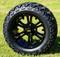"14"" VAMPIRE Gloss Black Aluminum Wheels and 23x10-14 All Terrain Tire Combo - Set of 4"