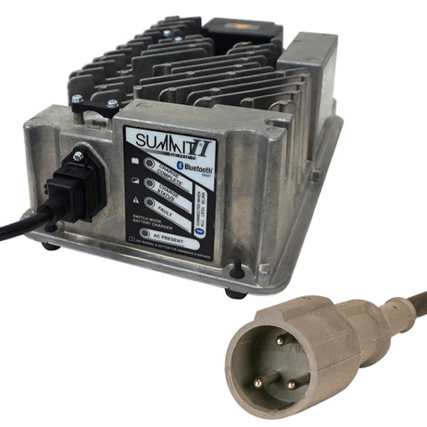 Club Car 48 Volt Golf Cart Battery Charger - Lester Summit Series II 48V/13-27A (without OBC) - Round 3-Pin Plug