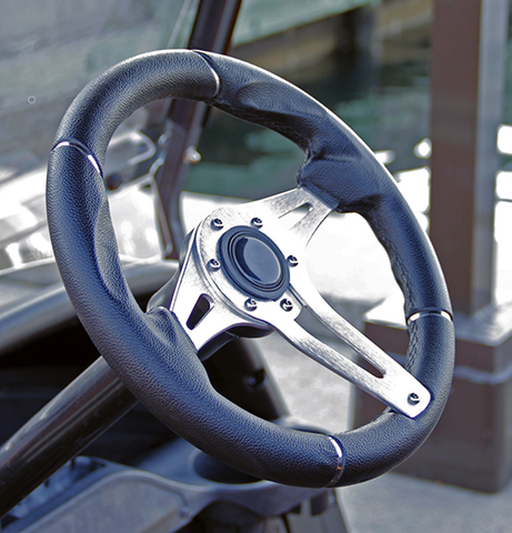 "Club Car Precedent 13"" CHALLENGER Brushed Aluminum Golf Cart Steering Wheel (Fits all Years)"