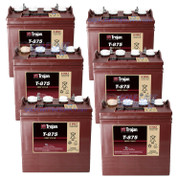 Trojan 8 Volt Golf Cart Batteries - 48V (6-Pack) 8V/170Ah T-875