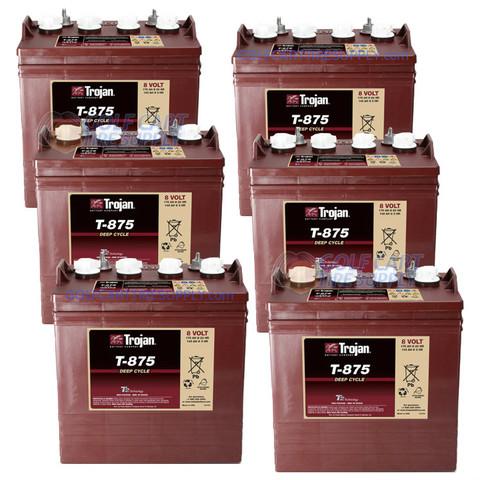 Trojan 8 Volt Golf Cart Batteries - 48V (6-Pack) 8V/170Ah T-875
