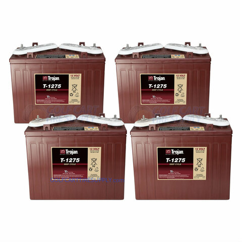 Trojan 12 Volt Golf Cart Batteries - 48V (4-Pack) 12V/150Ah T-1275