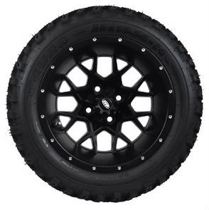 "14"" ITP Hurricane Matte Black Wheels and Slasher 23"" XT Trail AT Tires Combo - Set of 4"