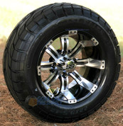 """12"""" TEMPEST Machined Aluminum Wheels and 22x9.5-12"""" ELITE Street DOT Tires Combo"""