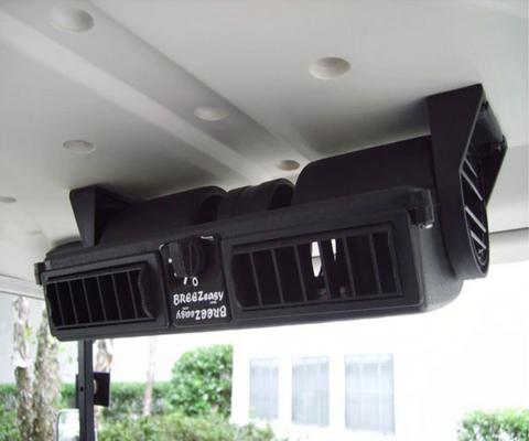 12-Volt Breezeasy Golf Cart Fan (fits All Gas & 36-Volt Carts) - Golf Cart Air Conditioner