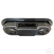 Golf Cart Radio / Golf Cart Speakers in Carbon Fiber (POLK/PYLE Overhead Console)