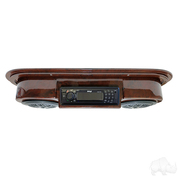 Golf Cart Radio / Golf Cart Speakers in Woodgrain (POLK/PYLE Overhead Console)