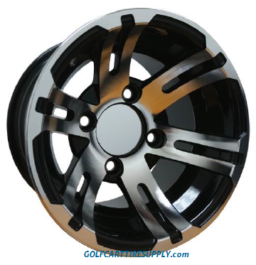 "10"" BULLDOG Machined Aluminum Golf Cart Wheels"