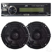 Golf Cart Radio / Speakers - Stereo System w/ Bluetooth JVC Receiver + Polk Speakers