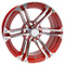 """15"""" TERMINATOR Machined/ RED Wheels and Innova Driver 205/35R-15"""" Low Profile DOT Tires Combo - Set of 4"""