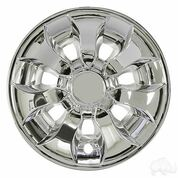 "8"" DRIVER Chrome Golf Cart Wheel Covers (Set of 4)"