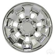 "8"" DRIVER Chrome Golf Cart Wheel Covers (Set of 4)"