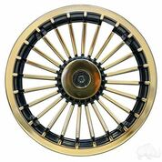 "8"" Turbine Gold and Black Wheel Cover"