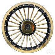 "8"" Turbine Gold and Black Wheel Cover"