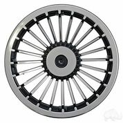 "8"" TURBINE Black/Silver Wheel Cover"
