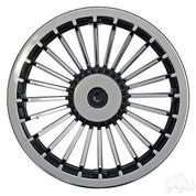 """8"""" TURBINE Black/Silver Wheel Cover"""