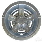 """8"""" RHOX Vegas Metallic Matte Silver Golf Cart Wheel Covers"""