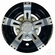 "8"" RHOX Vegas Silver Metallic and Black Wheel Cover"