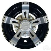 "8"" RHOX Vegas Silver Metallic and Black Wheel Cover"