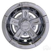 "8"" RHOX Vegas Chrome Golf Cart Wheel Covers (Set of 4)"