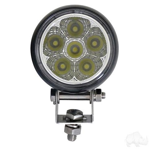 """RHOX 2.25"""" Golf Cart LED Utility Spotlight - 12-24V (18 Watt / 1,350 Lumens, Fits All Carts)"""