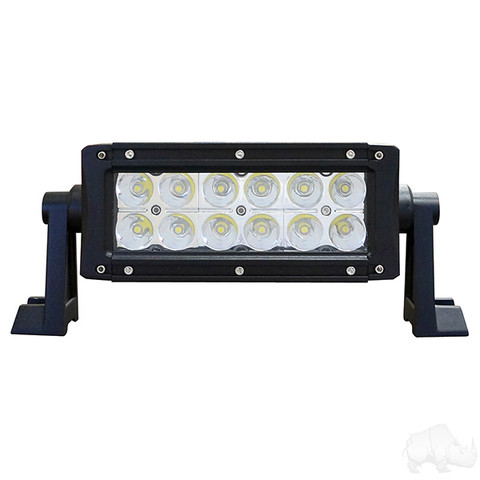 "RHOX 7.5"" Golf Cart LED Utility Light Bar - 12-24V (36 Watt / 2,340 Lumens, Fits All Carts)"