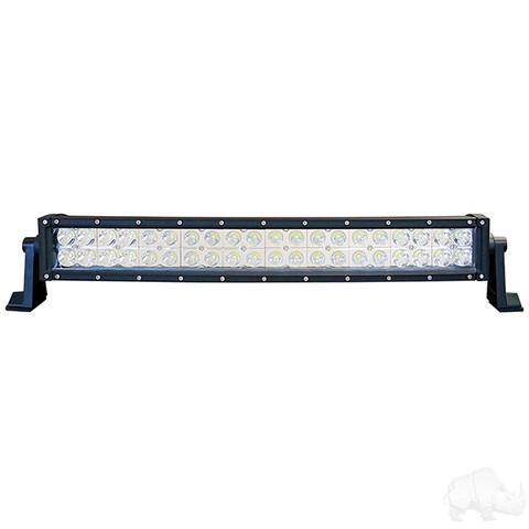"RHOX 21.5"" Golf Cart LED Curved Utility Light Bar - 12-24V (120 Watt / 7,800 Lumens, Fits All Carts)"