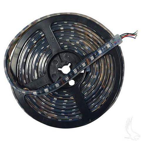 Flexible LED Light Rolls, 16' w/ Wire Leads, 12 VDC, RGB