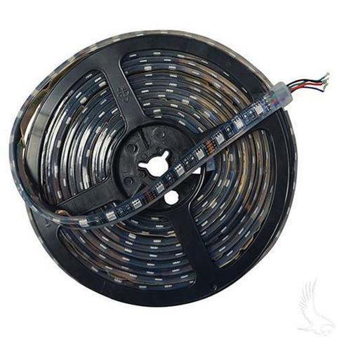 Flexible LED Light Rolls, 16' w/ Wire Leads, 12 VDC, Green