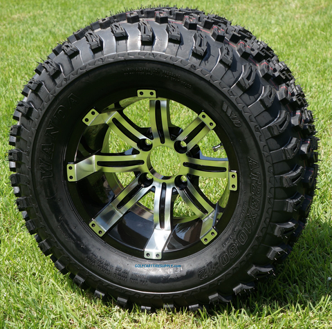 "12"" TEMPEST Wheels and 23"" All Terrain Tires Combo"