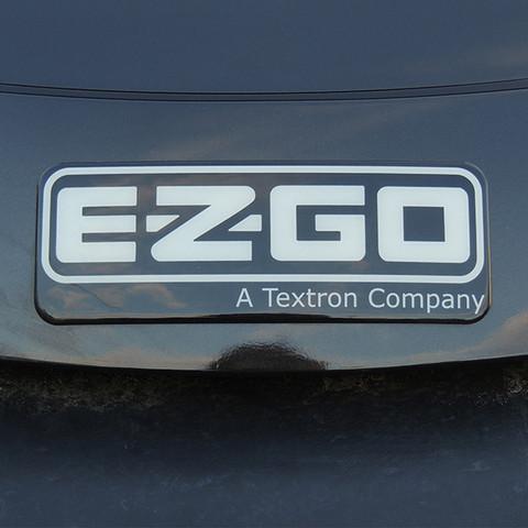 EZGO RXV Front Emblem / Name Plate - Black & Silver (Fits 2008+)
