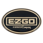 EZGO Workhorse Front Emblem / Name Plate - Black & Gold Logo