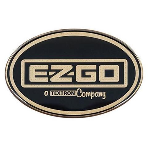 EZGO Workhorse Front Emblem / Name Plate - Black & Gold Logo