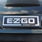 EZGO TXT Front Name Plate/ Emblem - Black & Silver Logo (For 1996-2013)