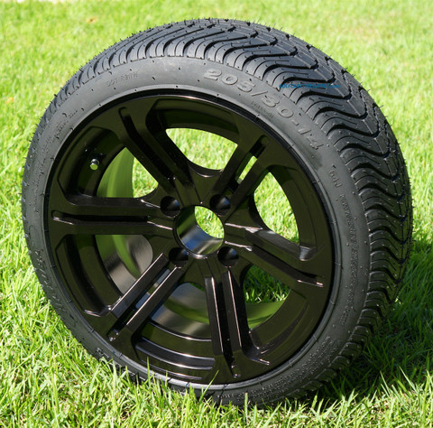 """14"""" REAPER Aluminum wheels and DOT Low Profile Tires Combo"""