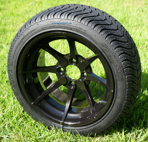 """14"""" HYDRA Aluminum Wheels and DOT Low Profile Tires Combo"""