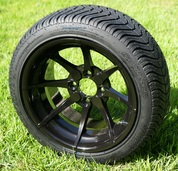 "14"" HYDRA Aluminum Wheels and DOT Low Profile Tires Combo"
