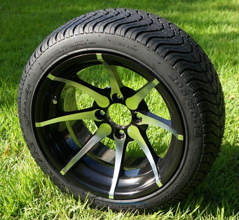 "KRAKEN 14"" Wheels and Low Profile Tires Combo"