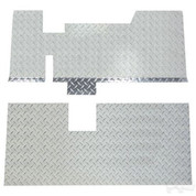 EZGO TXT Diamond Plate Floor Cover (Fits 2001.5-2013)